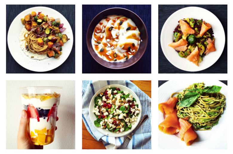 6 Healthy Meals on Instagram