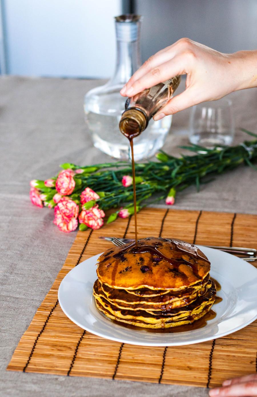 Pancake ai mirtilli e yogurt greco