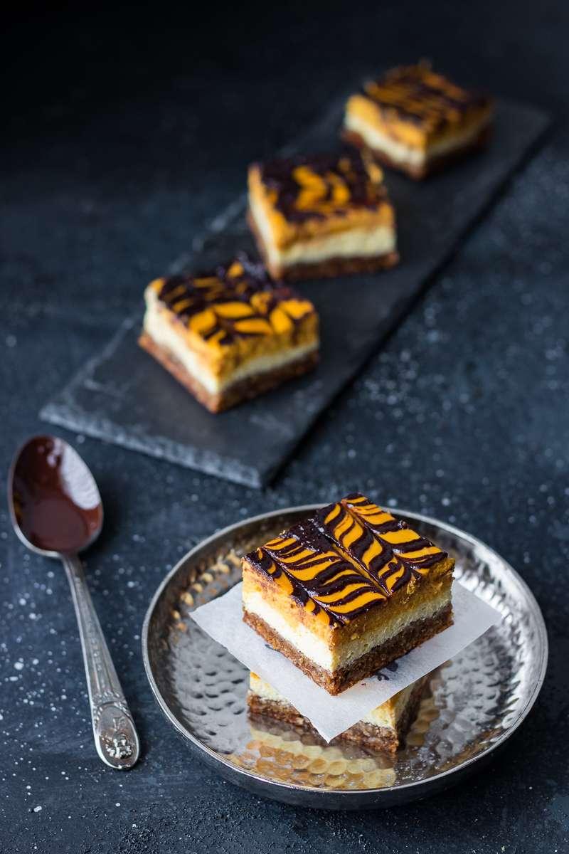 Cheesecake senza zucchero alla zucca