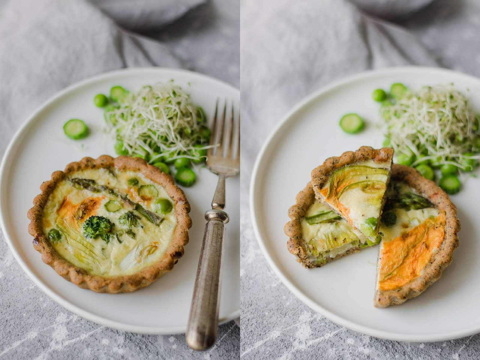 Mini quiche vegetariane senza burro
